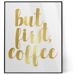 Coffee Addict 8x10 Foil Wall Art - White (Personalized)