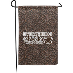 Coffee Addict Garden Flag - Single or Double Sided (Personalized)
