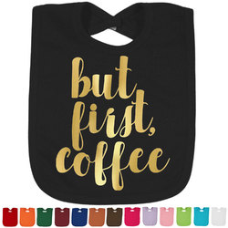 Coffee Addict Foil Baby Bibs (Select Foil Color) (Personalized)