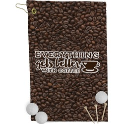 Coffee Addict Golf Towel - Full Print (Personalized)