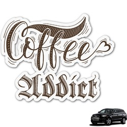 Coffee Addict Graphic Car Decal (Personalized)