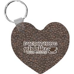 Coffee Addict Heart Keychain (Personalized)