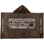 Coffee Addict Kids Hooded Towel (Personalized)