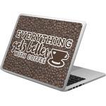 Coffee Addict Laptop Skin - Custom Sized (Personalized)