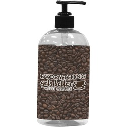 Coffee Addict Plastic Soap / Lotion Dispenser (Personalized)
