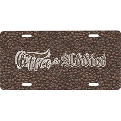Coffee Addict Front License Plate (Personalized)