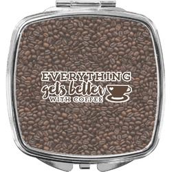 Coffee Addict Compact Makeup Mirror (Personalized)