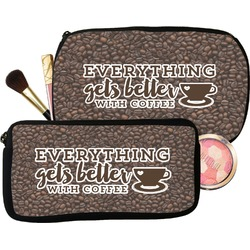 Coffee Addict Makeup / Cosmetic Bag (Personalized)