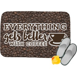 Coffee Addict Memory Foam Bath Mat (Personalized)