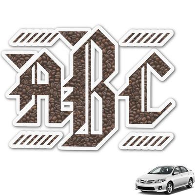 Coffee Addict Monogram Car Decal (Personalized)