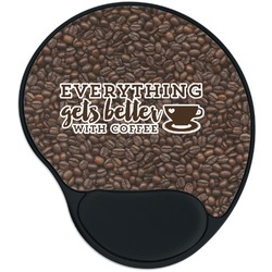 Coffee Addict Mouse Pad with Wrist Support