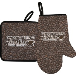 Coffee Addict Oven Mitt & Pot Holder (Personalized)