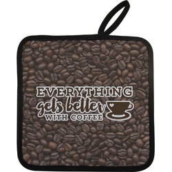 Coffee Addict Pot Holder (Personalized)