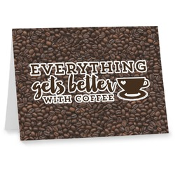 Coffee Addict Note cards (Personalized)