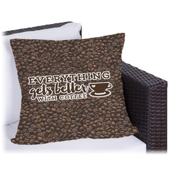 Coffee Addict Outdoor Pillow (Personalized)