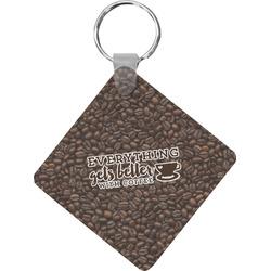 Coffee Addict Diamond Key Chain (Personalized)