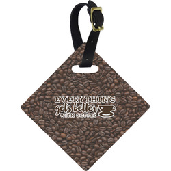 Coffee Addict Diamond Luggage Tag (Personalized)