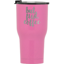 Coffee Addict RTIC Tumbler - Pink (Personalized)