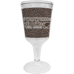 Coffee Addict Wine Tumbler - 11 oz Plastic (Personalized)