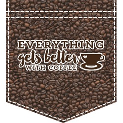 Coffee Addict Iron On Faux Pocket (Personalized)