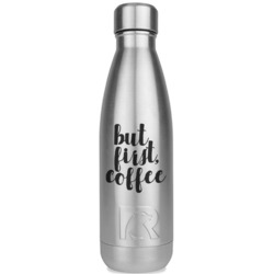Coffee Addict RTIC Bottle - Silver (Personalized)