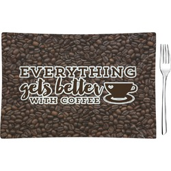 Coffee Addict Glass Rectangular Appetizer / Dessert Plate - Single or Set (Personalized)