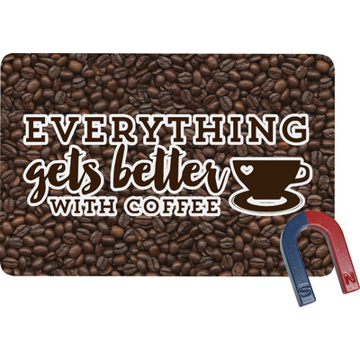 Coffee Addict Rectangular Fridge Magnet (Personalized)