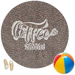Coffee Addict Round Beach Towel (Personalized)