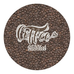 Coffee Addict Round Decal - Custom Size (Personalized)