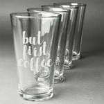 Coffee Addict Beer Glasses (Set of 4) (Personalized)