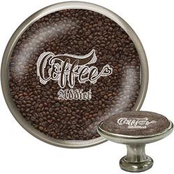 Coffee Addict Cabinet Knob (Silver) (Personalized)