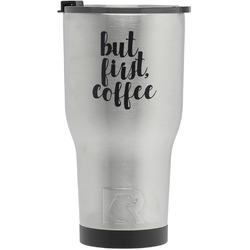 Coffee Addict RTIC Tumbler - Silver (Personalized)
