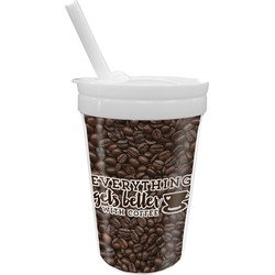 Coffee Addict Sippy Cup with Straw (Personalized)
