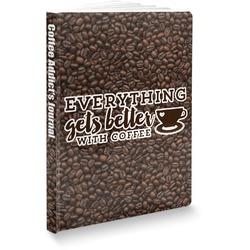 "Coffee Addict Softbound Notebook - 5.75"" x 8"" (Personalized)"