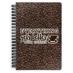 Coffee Addict Spiral Bound Notebook (Personalized)