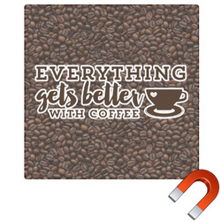 Coffee Addict Square Car Magnet (Personalized)