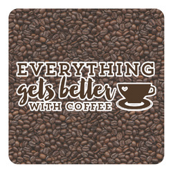 Coffee Addict Square Decal - Medium (Personalized)