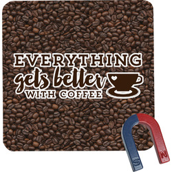 Coffee Addict Square Fridge Magnet (Personalized)