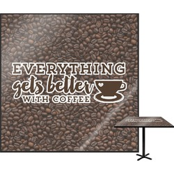 Coffee Addict Square Table Top (Personalized)