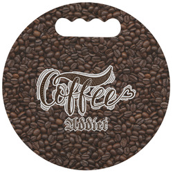Coffee Addict Stadium Cushion (Round) (Personalized)