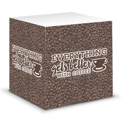 Coffee Addict Sticky Note Cube (Personalized)