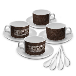 Coffee Addict Tea Cup - Set of 4 (Personalized)