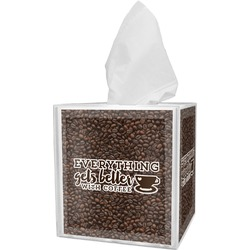 Coffee Addict Tissue Box Cover (Personalized)