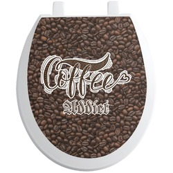 Coffee Addict Toilet Seat Decal (Personalized)