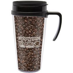 Coffee Addict Travel Mug with Handle (Personalized)