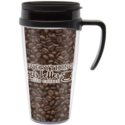 Coffee Addict Travel Mug with Handle (Personalized)
