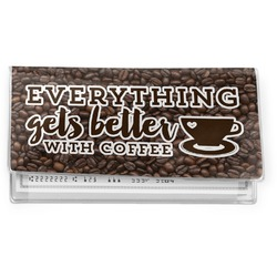 Coffee Addict Vinyl Checkbook Cover (Personalized)