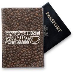 Coffee Addict Vinyl Passport Holder (Personalized)