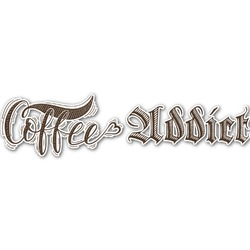Coffee Addict Name/Text Decal - Large (Personalized)