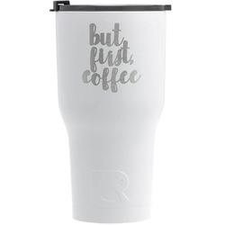 Coffee Addict RTIC Tumbler - White (Personalized)